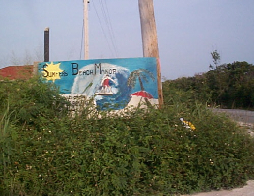 Main Road Sign to Surfer's Beach